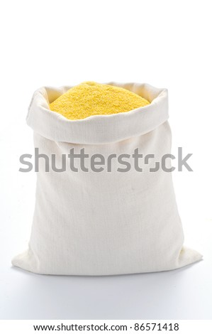 Maize flour in the bag