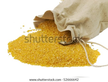 Maize flour in the bag - gluten free, isolated