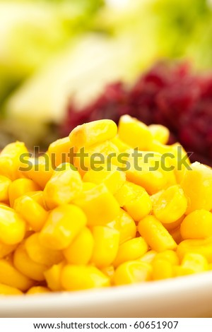 maize on plate