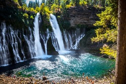 Majestic Burney Falls in Shasta-Trinity National Forest, California