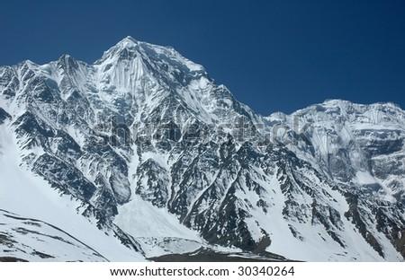 Majestic Himalayan range in the Annapurna region.
