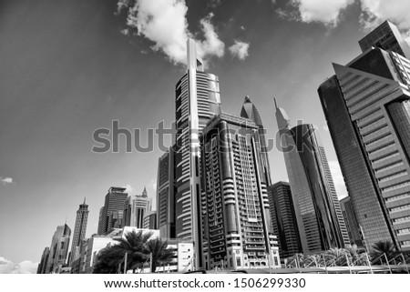 Majestic modern buildings of Downtown Dubai. United Arab Emirates, UAE.