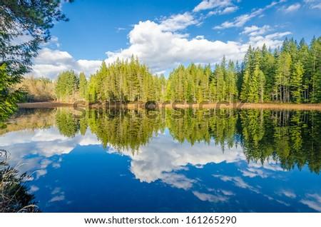 Majestic mountain lake in Canada. #161265290