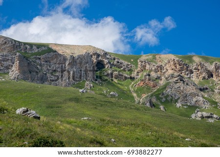 Majestic mountain landscapes of the Caucasian reserve #693882277