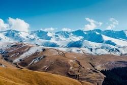 Majestic mountain landscapes of the Kazakhstan reserve near Almaty city