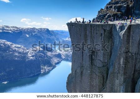 Shutterstock Majestic Preikestolen over Lysefjorden, Stavanger, Norway
