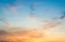 Majestic sky clouds in the morning,Idyllic peaceful nature background,amazing sunrise on sunset sky,Dusk on twilight in summer season
