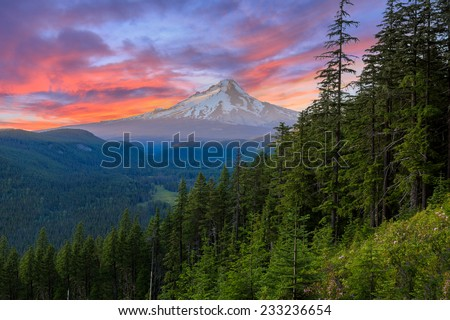 majestic view of mt. hood on a...