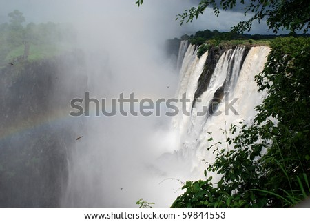 majestic view with Victoria falls(Africa) - stock photo