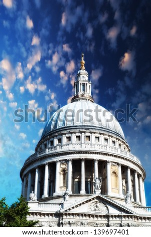 Majesty of St Paul Cathedral in London - UK
