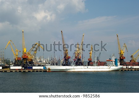 Major Ukrainian seaport of Odessa on Black sea