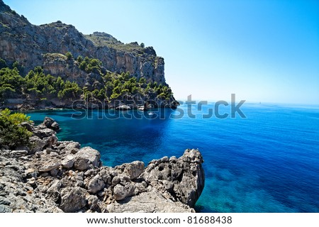 "Majorca Island (Spain) : ""Pareis Sa Calabra"" Canyon and coast"