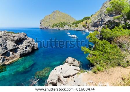 "Majorca Island (Spain) : ""Pareis Sa Calabra"" Canyon and coast"