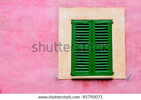 Majorca traditional wood windows mallorquina shutters from Spain