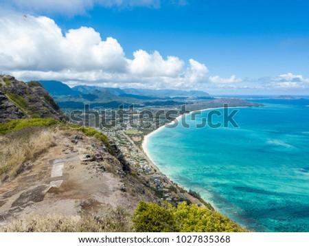 Makapuu Cliff Hawaii #1027835368