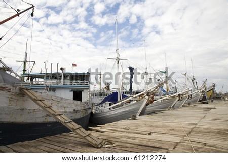 Makassar harbor - stock photo