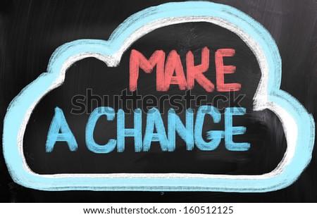 Make A Change Concept