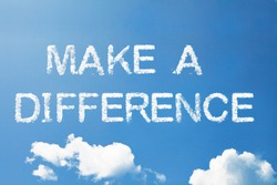 make a difference a cloud word on sky