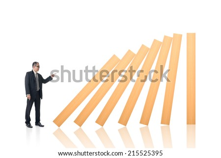 Make a domino effect, concept of dangerous, trouble, careless etc.