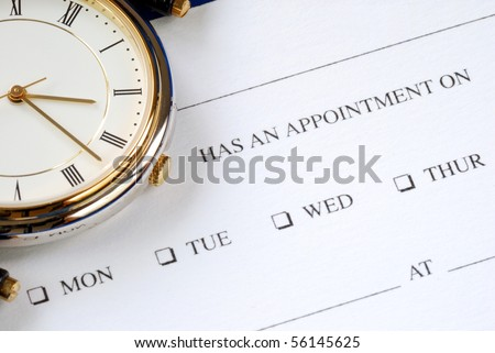 Make an appointment and write on the card