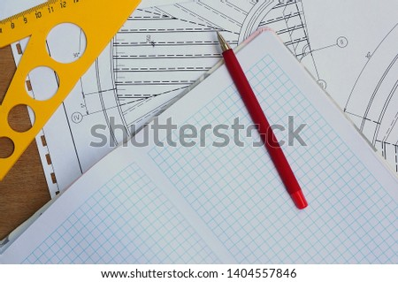 Make entries in the drawing drawing.Measure the drawing.