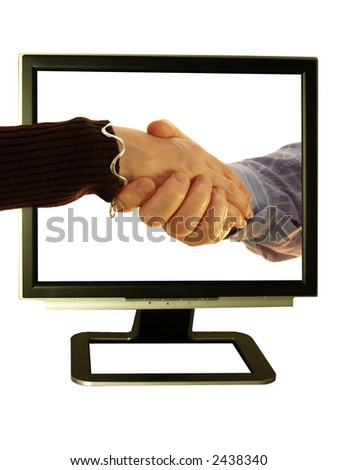 Make friends use your pc and shake hands