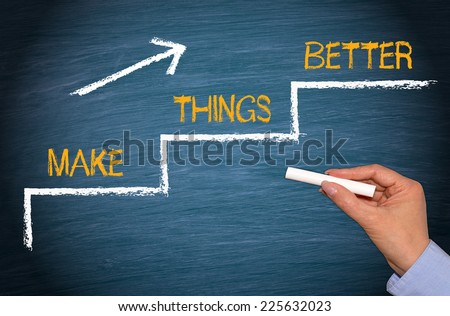Make things better - Improvement Concept