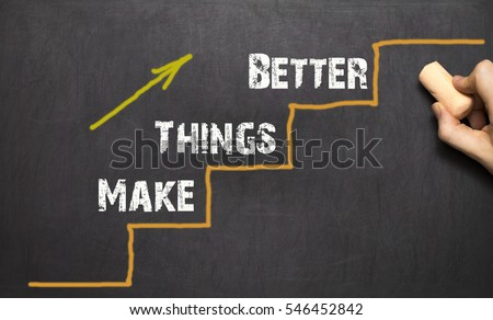 Make things better - Improvement Concept. Black background