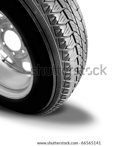 Make Tyre Tracks: Isolated Car Tyre With Drop Shadow