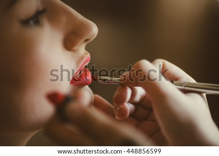 Make-up artist doing makeup