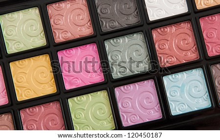 Make-up Artist palette of eye shadow colors