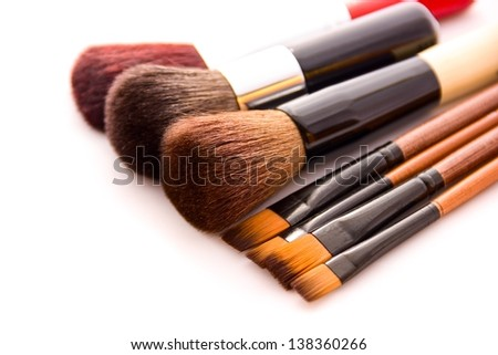 Make-up crushes and bag background.