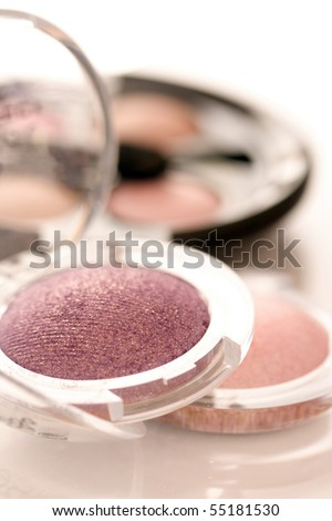 make-up eyeshadow - stock photo