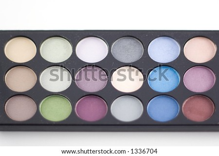 make-up on a white background