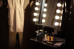 Make-up products and dress backstage