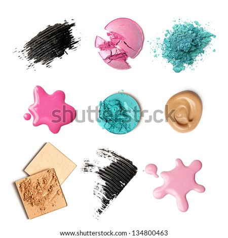 make-up products isolated
