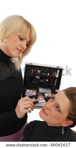 make up scene with two girls