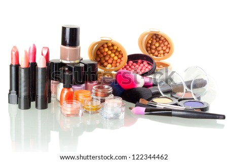 Make up set isolated on white background