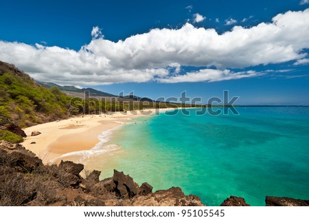 Makena Beach, in Maui, Hawaii