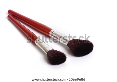makeup brush - stock photo
