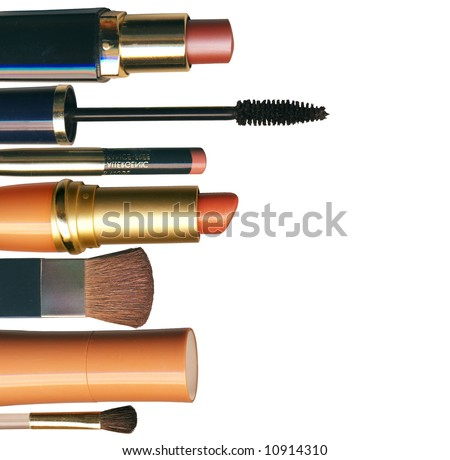 Lifestyle - Pagina 2 Stock-photo-makeup-brush-and-cosmetics-on-a-white-background-isolated-with-clipping-path-10914310