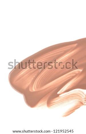 makeup foundation isolated on white background