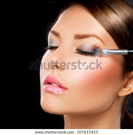 Makeup.Make-up.Eyeshadows. Eye shadow brush