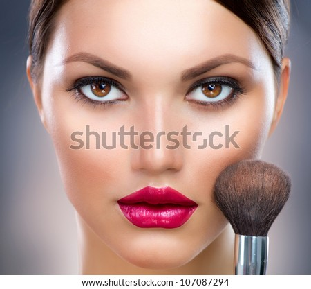 Makeup. Make-up Face