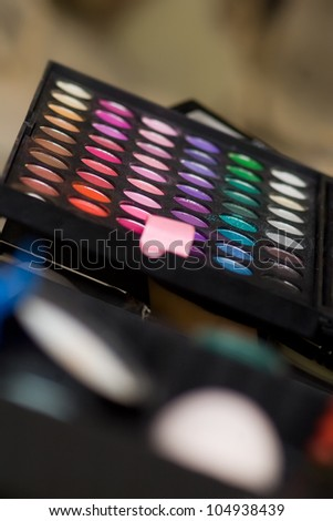 makeup palette closeup