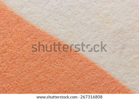 Makeup puff textured for background, Cosmetic sponges textured for background.