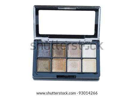 Makeup set, make-up eye shadows and lip gloss