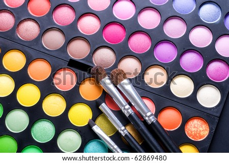 Makeup set.Professional multicolor eyeshadow palette