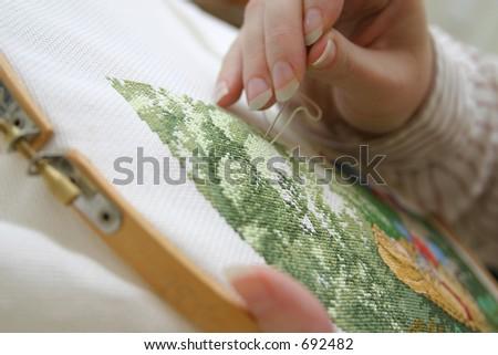 Making a Holiday Cross Stitch