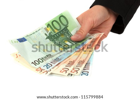 Making a payment - stock photo